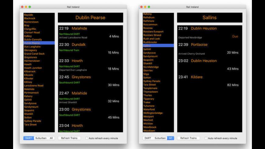 Rail Ireland for Mac - review, screenshots