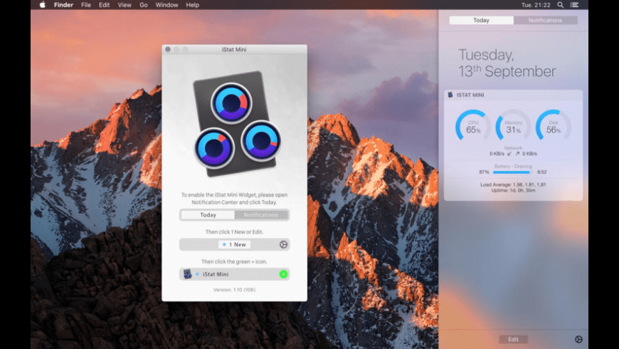 iStat Mini for Mac - review, screenshots