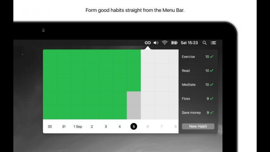 Momentum Habit Tracker for Mac - review, screenshots