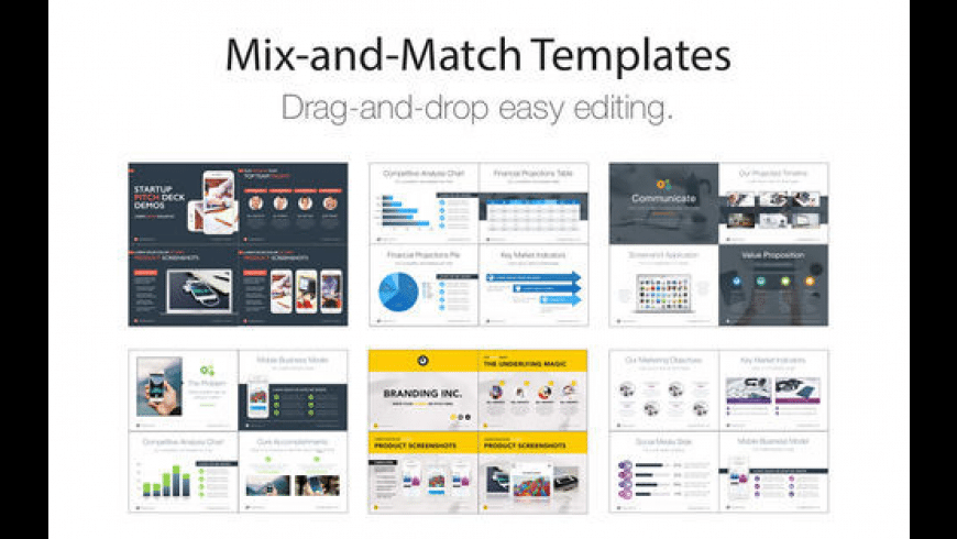 Pitch Deck Templates for Keynote for Mac - review, screenshots