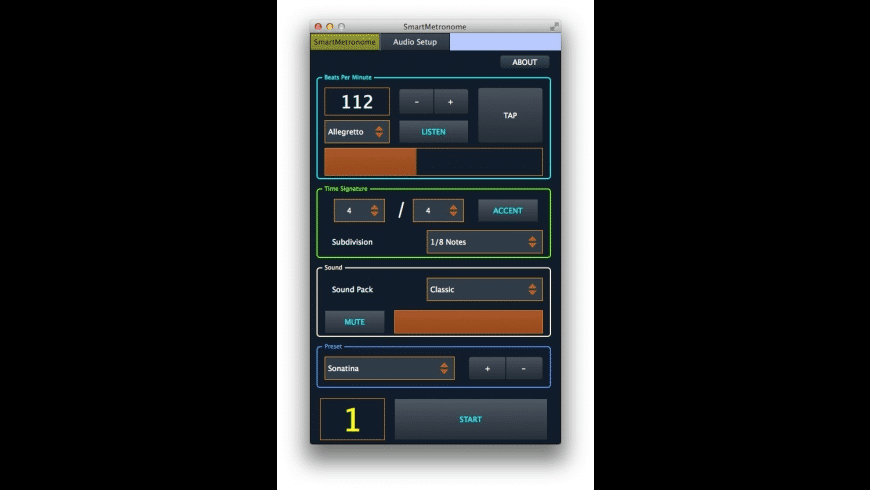Smart Metronome for Mac - review, screenshots