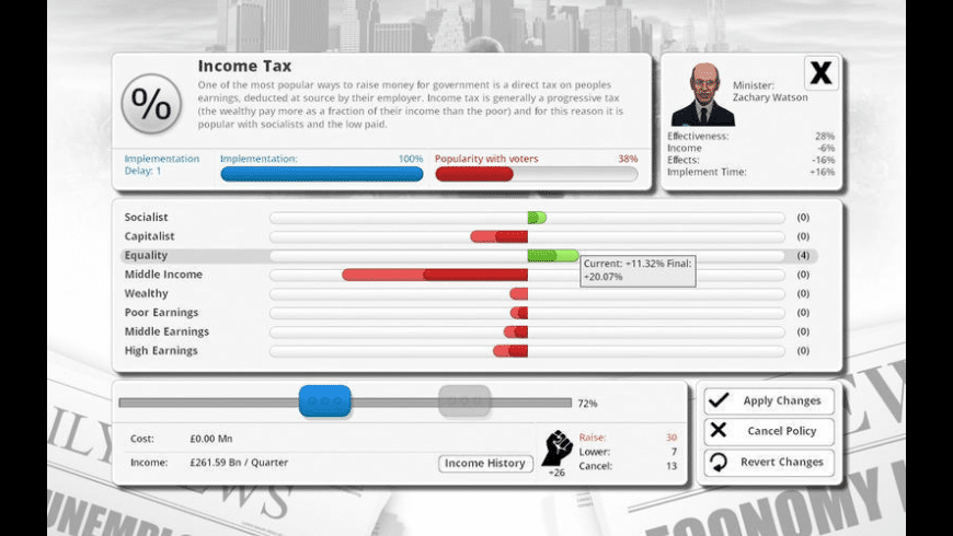 Democracy 3 for Mac - review, screenshots