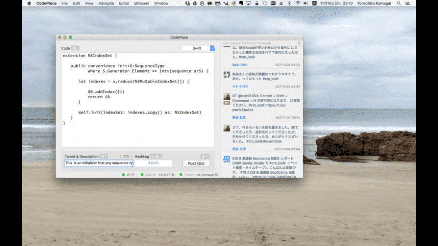 CodePiece for Mac - review, screenshots