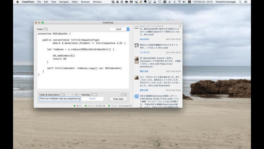 CodePiece for Mac - review, screenshots