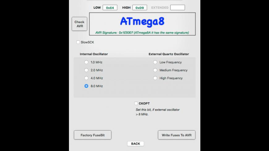 AVRFusesCalc for Mac - review, screenshots
