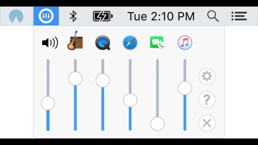 VolumeMixer for Mac - review, screenshots