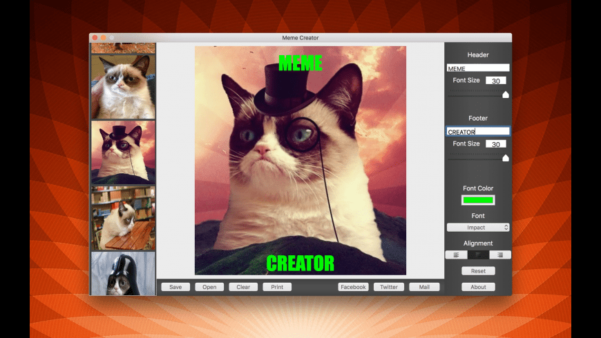 Meme Creator for Mac - review, screenshots