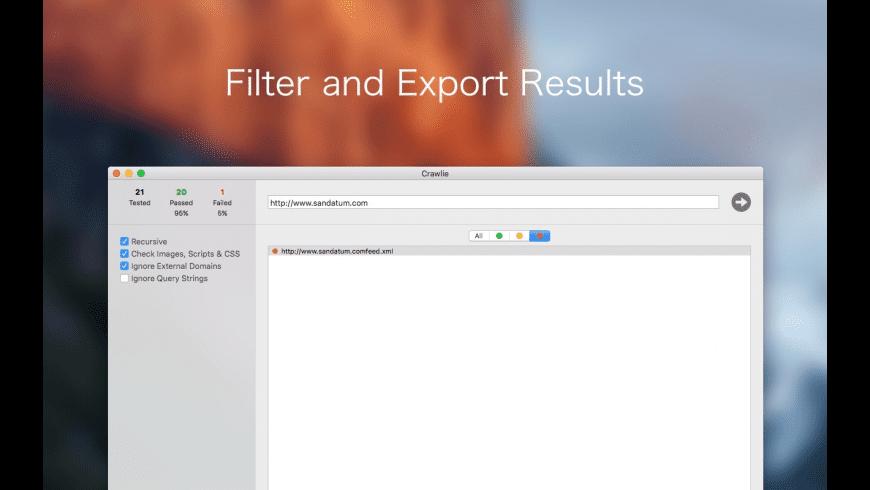 Crawlie for Mac - review, screenshots