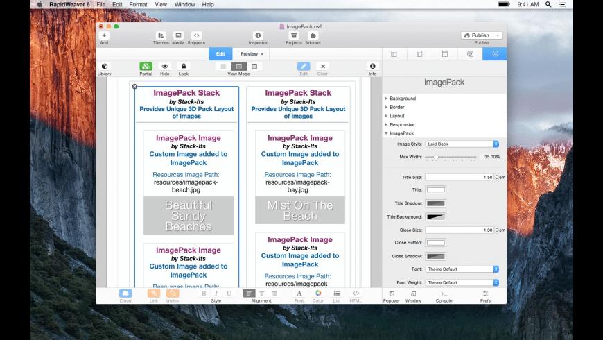 ImagePack for Mac - review, screenshots