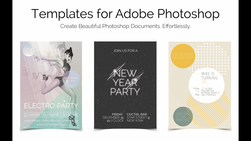 Templates for Photoshop for Mac - review, screenshots