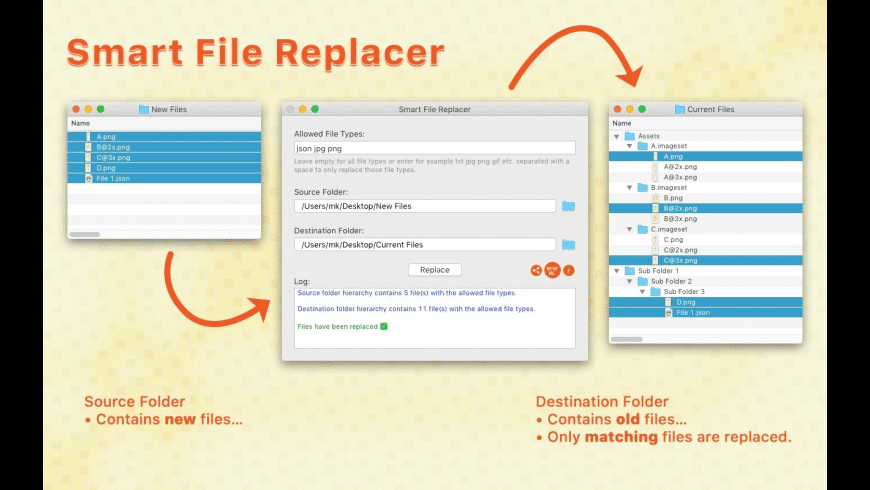 Smart File Replacer for Mac - review, screenshots