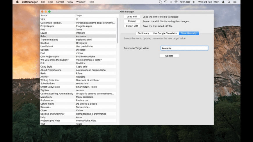 Xliff Manager for Mac - review, screenshots