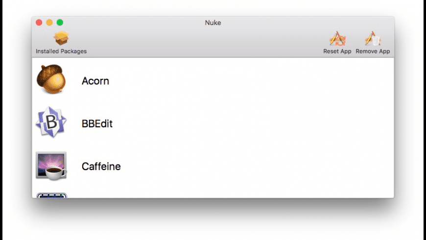 Nuke for Mac - review, screenshots