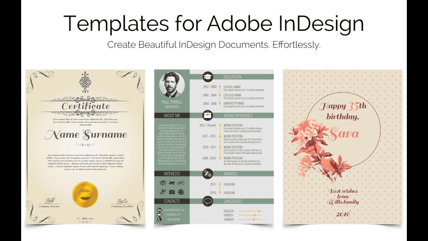 Templates for InDesign for Mac - review, screenshots