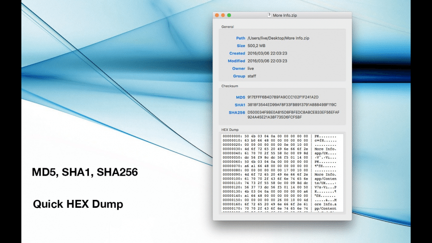 More Info for Mac - review, screenshots