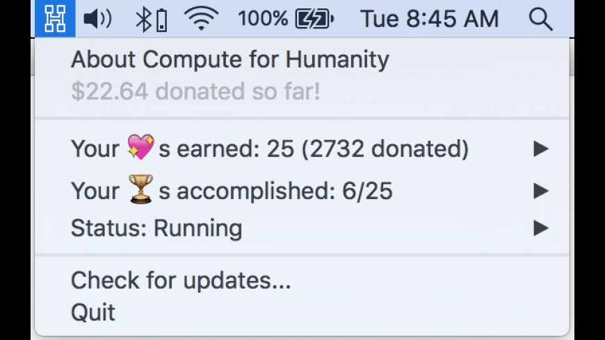 Compute for Humanity for Mac - review, screenshots