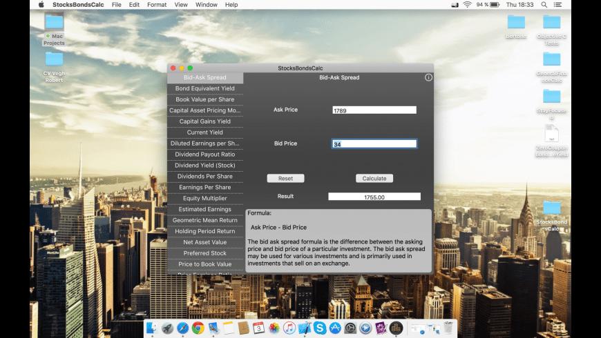 StocksBondsCalc for Mac - review, screenshots