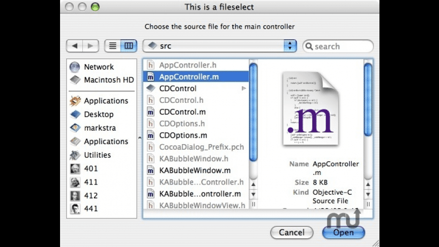 CocoaDialog for Mac - review, screenshots