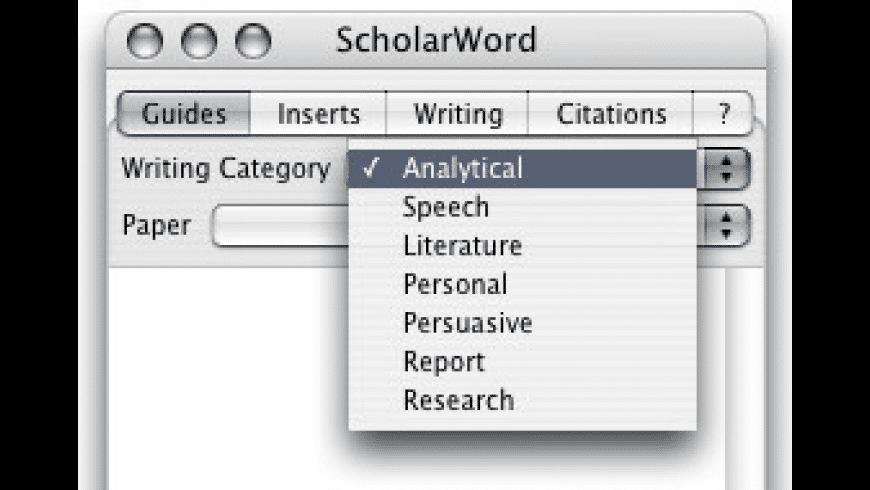 ScholarWord for Mac - review, screenshots
