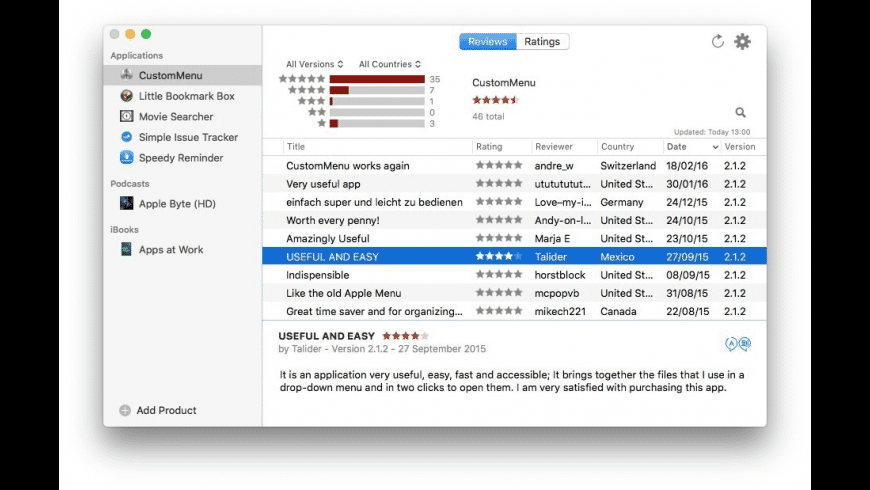 Review Tracking Tool for Mac - review, screenshots