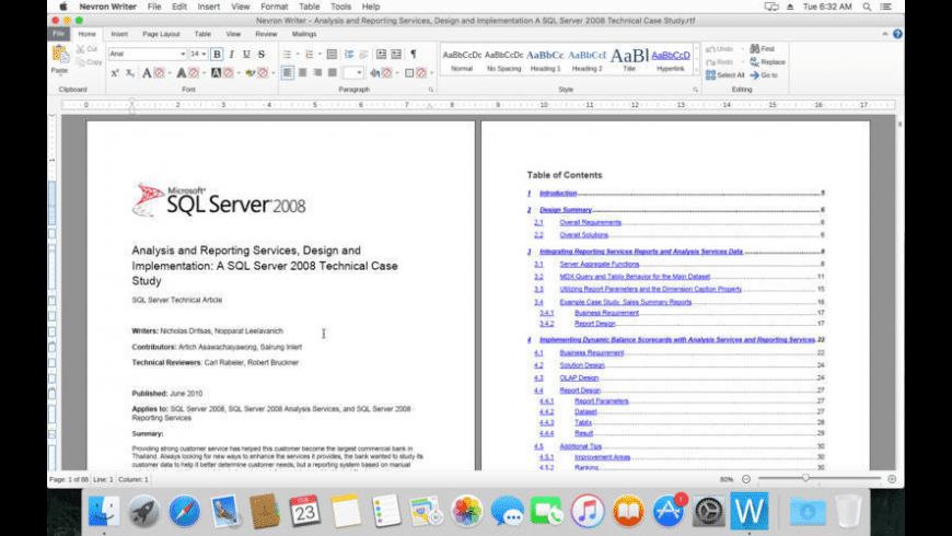 Nevron Writer for Mac - review, screenshots