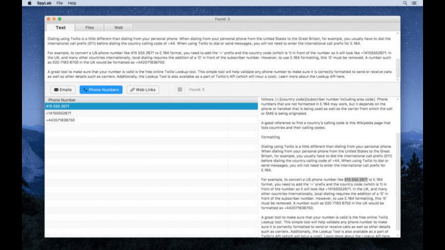 SpyLab for Mac - review, screenshots