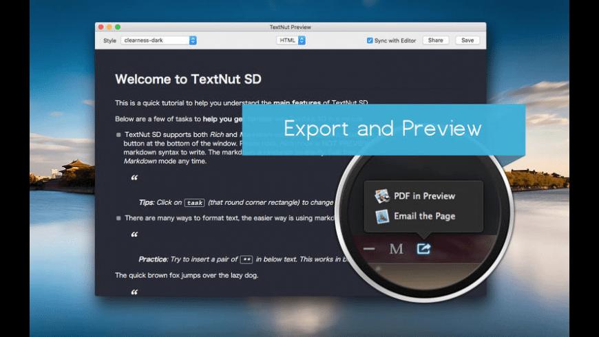 TextNut SD for Mac - review, screenshots