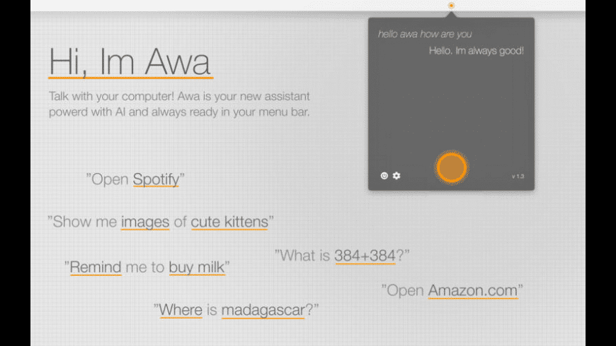 Awa for Mac - review, screenshots