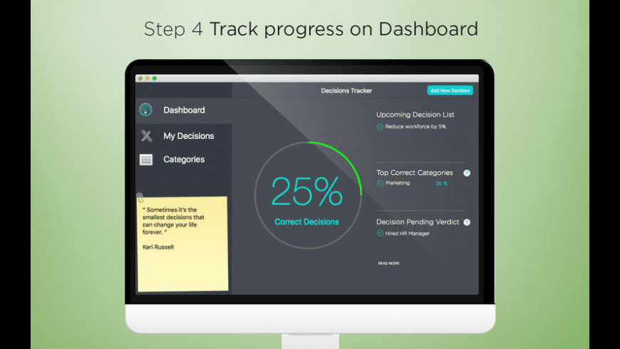 Decisions Tracker for Mac - review, screenshots