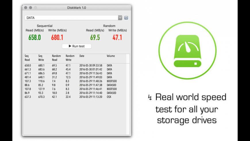 DiskMark for Mac - review, screenshots