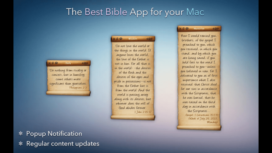 Bible Verse for Mac - review, screenshots