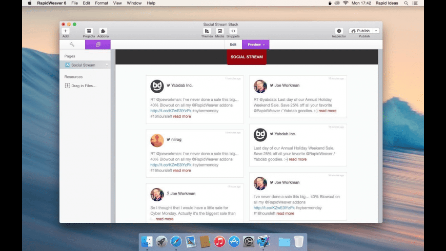 Social Stream Stack for Mac - review, screenshots