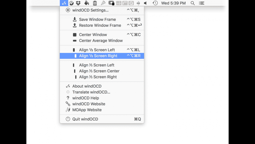 windOCD for Mac - review, screenshots