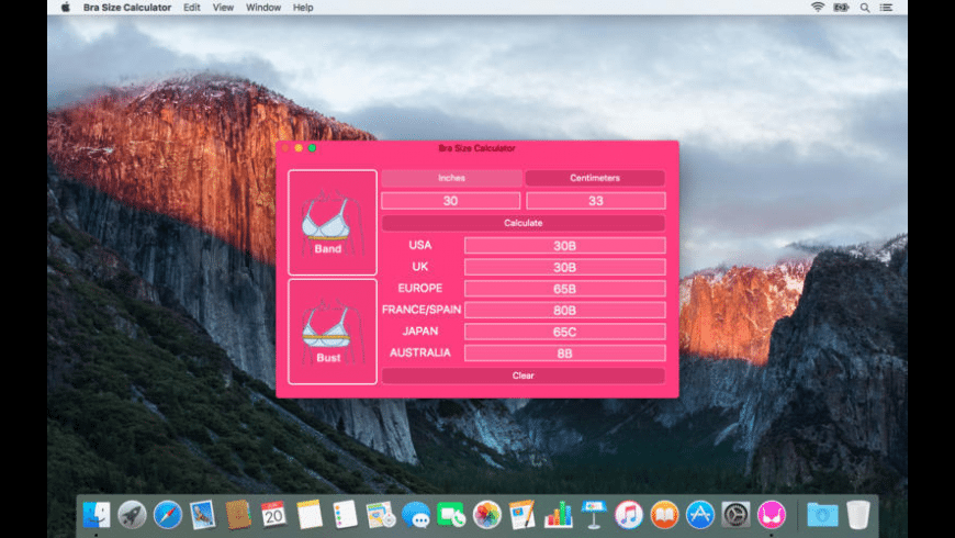 Bra Size Calculator for Mac - review, screenshots