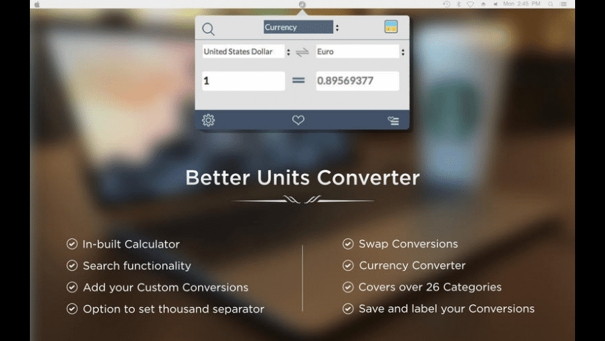 Better Units Converter for Mac - review, screenshots