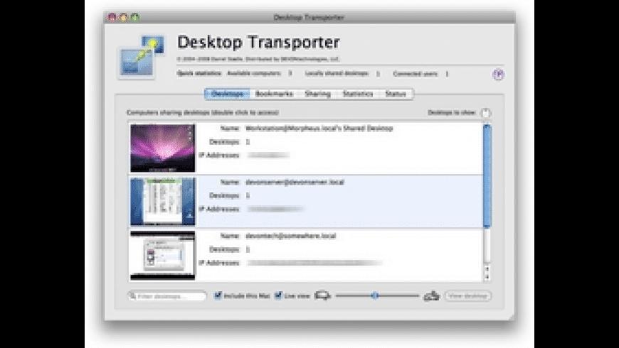 Desktop Transporter for Mac - review, screenshots