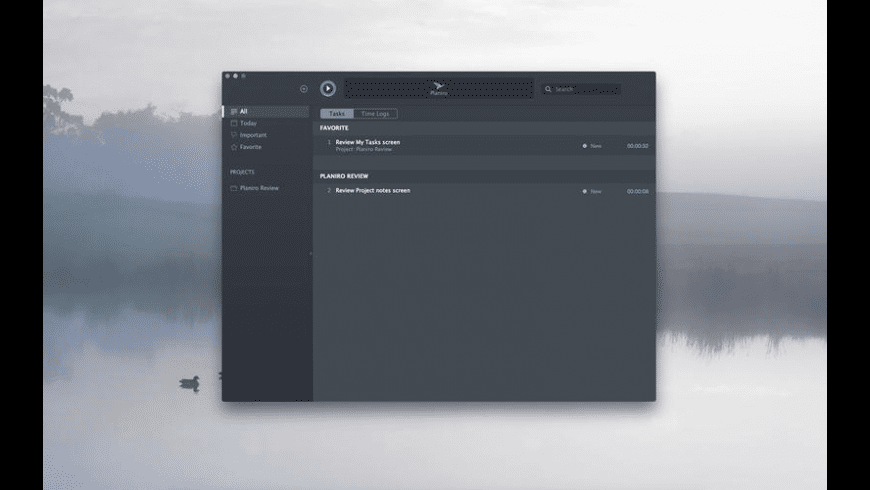 Planiro Tracker for Mac - review, screenshots