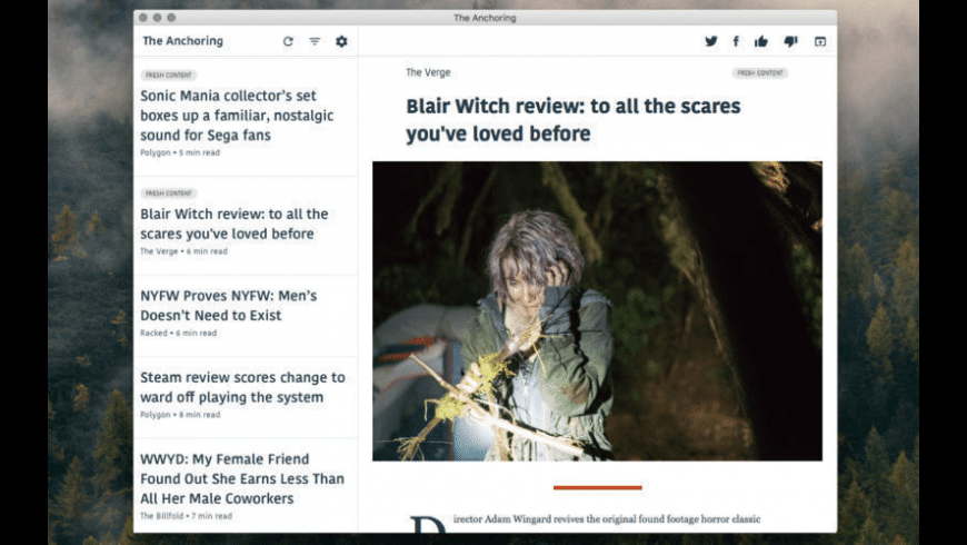 The Anchoring for Mac - review, screenshots