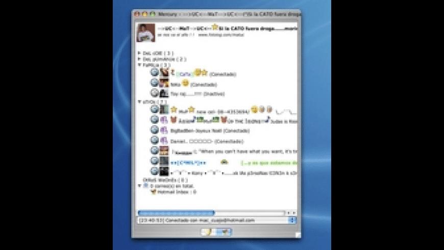 Mercury Messenger for Mac - review, screenshots
