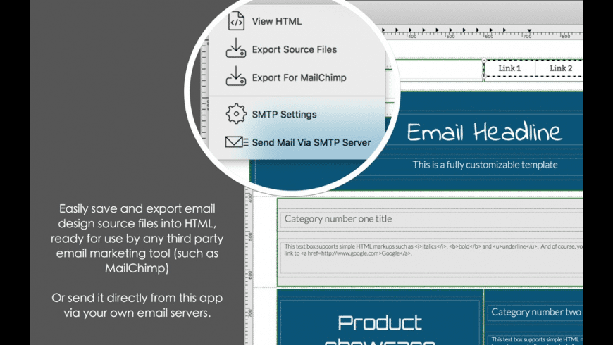 Dragon Responsive Email Designer for Mac - review, screenshots