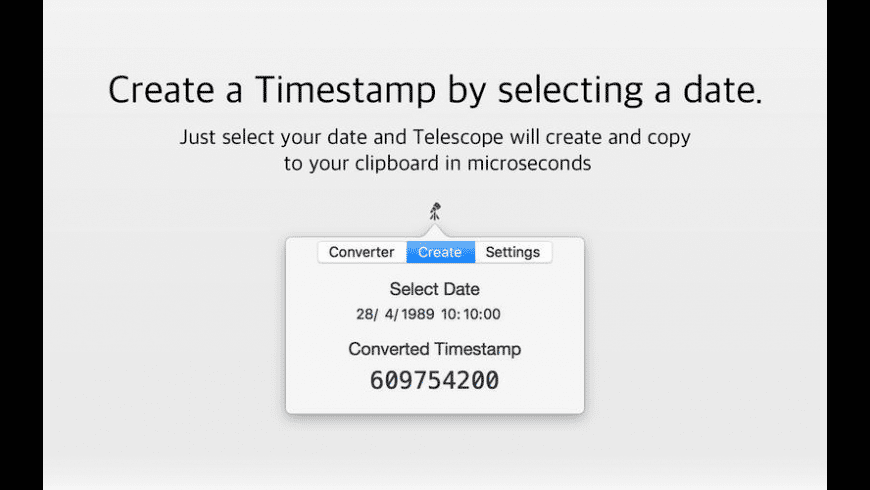 Telescope for Mac - review, screenshots