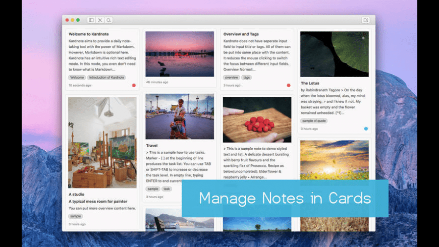 Kardnote for Mac - review, screenshots