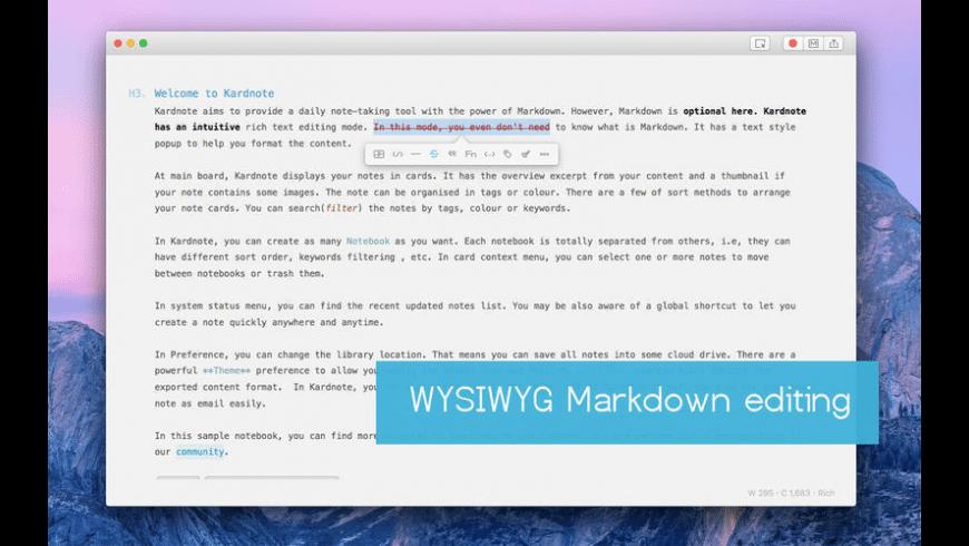 Kardnote for Mac - review, screenshots