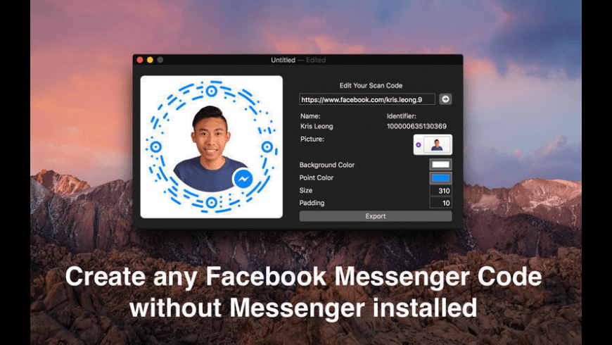 Scan Code Editor for Messenger Codes for Mac - review, screenshots
