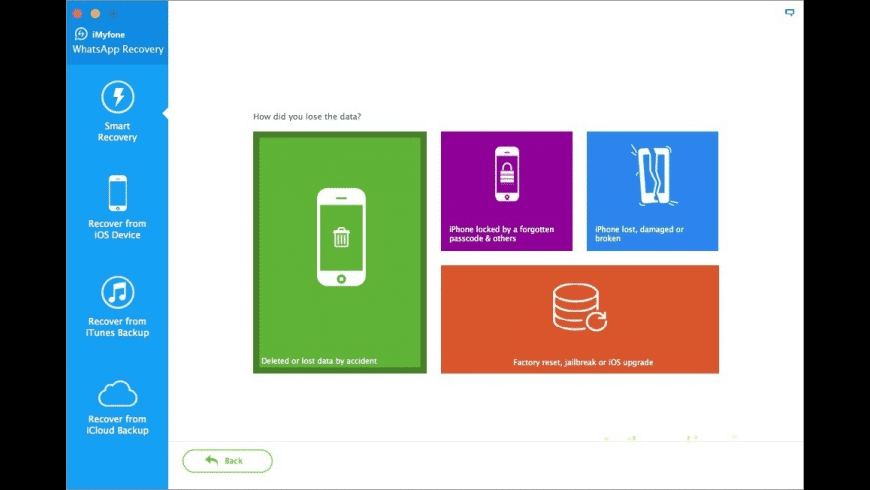 iMyfone iPhone WhatsApp Recovery for Mac - review, screenshots