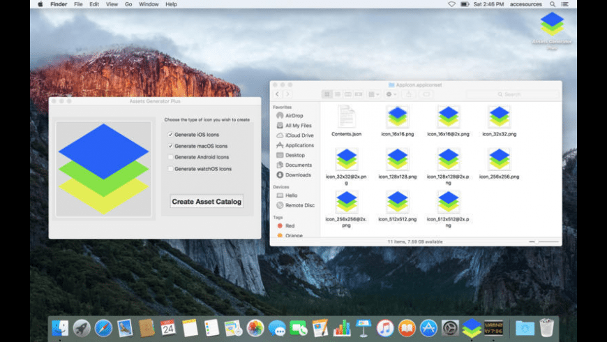 Assets Generator Plus for Mac - review, screenshots