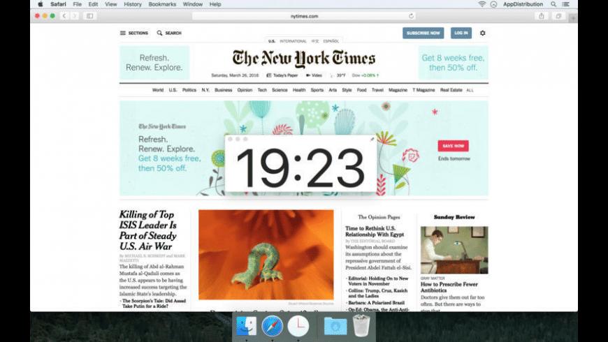 ClockX for Mac - review, screenshots
