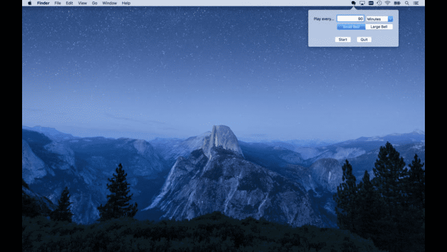 Mindfulness Bell Menu Bar for Mac - review, screenshots