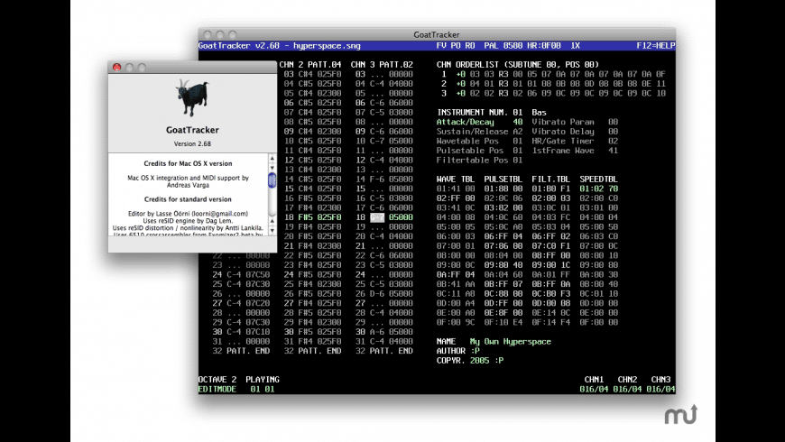 GoatTracker for Mac - review, screenshots