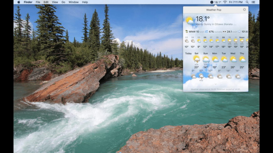 Weather Pop for Mac - review, screenshots